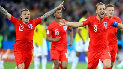 England won their first ever World Cup by penalty shootout against Colombia