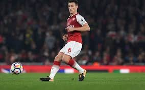 Arsenal defender Laurent Koscielny creates opportunity to a Olympique Marseille move.